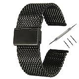 16MMバンドPinhen腕時計 ステンレス メッシュ ベルト ステンレス鋼ミラネーゼ メタル ブレス バンド 16MM 18MM 20MM 22MM 24MM 26MM バネ棒はずし 付属