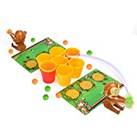Wishtime 幼児ゲーム つみかさねカップ ボール投げる ナイスショット ツイン シュートするサル 4歳以上 知育玩具 おもちゃ