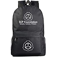 SCP Foundation Notebook Backpack School Backpack Bookbag School College Student Travel Bag for SCP Foundation Fans