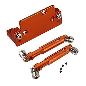 Mxfans 2個入れ アルミ合金 180010 180011 サーボプレートサーボマウント/ワット+犬用の骨 HSP RC1:10ロッククローラークライミングレーシング 94180 (オレンジ)
