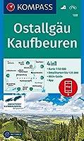 Ostallgaeu, Kaufbeuren 1:50 000: 4in1 Wanderkarte 1:50000 mit Aktiv Guide und Detailkarten inklusive Karte zur offline Verwendung in der KOMPASS-App. Fahrradfahren.