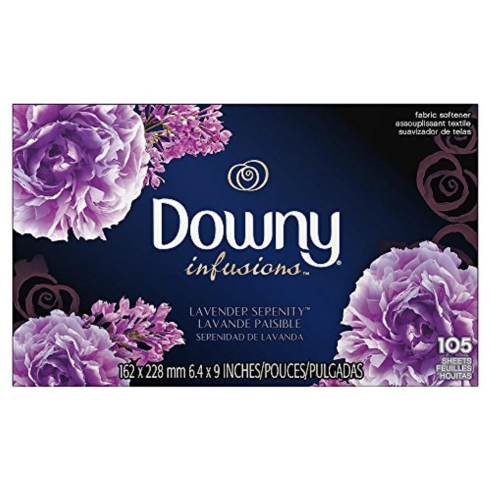 拒絶びっくり花束Downy (ウルトラダウニー) 乾燥機用柔軟仕上げシート インフュージョン ラベンダーセレニティ 105枚