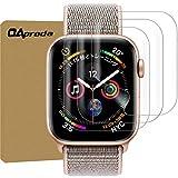 【業界一番貼りやすい】【3枚セット】 OAproda Apple Watch Series 4 フィルム 44mm【最新貼り付け方法/存在感ゼロ/剥がれ対策/浮き防止/エッジ保護/絶妙なタッチ感】アップルウォッチ4 フィルム 44mm TPU素材
