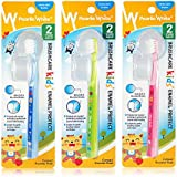 Pearlie White BrushCare Kids Enamel Protect Extra Soft Toothbrush, Pack of 3