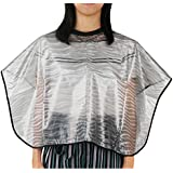 Barber Haircut Cape, Hair Coloring Cape Super Light Shampoo Cape Reusable PVC Waterproof Hair Wet Styling Hairdresser Smock Professional Salon Cloak for Hair Cutting Coloring Dyeing Perm