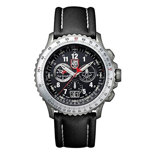 Luminox 9241メンズAir F - 229240ブラックダイヤルブラックレザーストラップクロノDive Watch