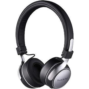 Sunliking BH-01 ブルートゥースヘッドホン Bluetooth ヘッドホン ワイヤレス 密閉型 高音質 内蔵マイク ハンズフリー通話可能 PC Mac スマホなどに対応 (ブラック)