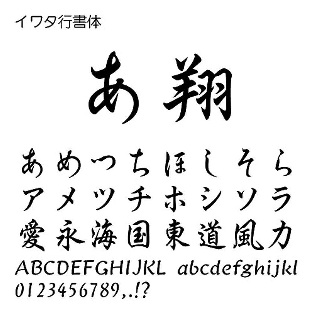 拡声器パン屋成熟したイワタ行書体Pro OpenType Font for Windows [ダウンロード]