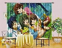 3D クラナド 8808 日本のアニメ ブロックアウトフォトカーテンプリントカーテンドレープファブリックウィンドウ  3Dラージ写真カーテン, AJ WALLPAPER Angelia (203cmx160cm(WxH)【80''x 63''】)