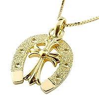 [アトラス] Atrus 馬蹄 ホースシュー クロス 十字架 ネックレス イエローゴールドK10 ペンダント