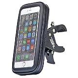 ELEKCITY(エレクシティ) 自転車ホルダー 《細いハンドルバーにも固定できるフレキシブルなマウント》インナータイプで防水・防塵 自転車 スマホホルダー マウント ホルダー スマホ・iPhone固定用マウント バイクホルダー (M) 製品保証6ヶ月 iPhone7 iPhone6/6s XperiaZ4/Z5 Galaxy s6/edge/oppo R7 などに対応