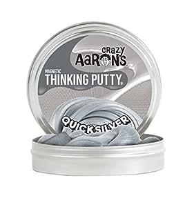【 磁石に反応する!シリコン製パティ 】 Crazy Aaron's Putty World シンキングパティ スーパー マグネット シリーズ EU安全規格適合 内容量90g レギュラーサイズ Made in USA 日本正規代理店品 【 クイック シルバー 】 QS020