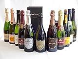 ドンペリ飲み比べ11本セット(ドンペリニヨン ギフト箱付 白 正規輸入品750ml+世界の厳選スパークリングワイン10本