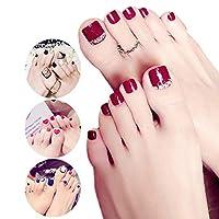 XUTXZKA 女性のための24個/セット偽の爪の完全なつま先の爪偽の爪
