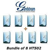 Grandstream HT502 HandyTone 502 VoIP router Analog Telephone Adaptor Bundle of 8 by Grandstream [並行輸入品]