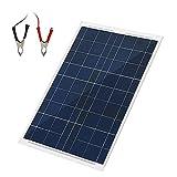 18V?30W太陽光パネル ソーラーパネル充電器 太陽光発電パネル 折りたたみ式 単結晶 フレキシブル 超薄型 ソーラーチャージャー ソーラー充電ツール ソーラーパネル充電器 iphone ワニ口クリップ自動車用オートバイ用