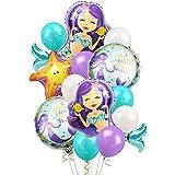 女の子 誕生日 バルーン 飾り セット パープル ブルー 人魚 子供 がルーズ アルミ バルーン 風船 ヒトデ ホワイト ティファニー ベビーシャワー マーメイド 36枚セット