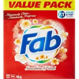 Fab Laundry Powder, Sunshine Fresh, 4000g
