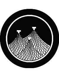 家紋シール 糸輪に三つ干網紋 布タイプ 直径40mm 6枚セット NS4-1749