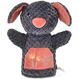 ブラックアーリーラーニング人形手の人形動物の人形ファンシーおもちゃの犬モデル