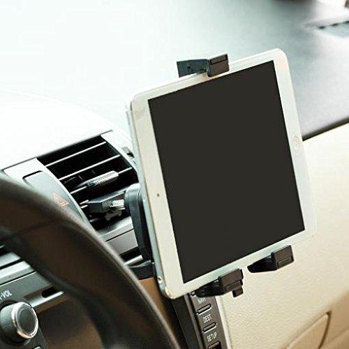 Car Air Ventタブレットマウントホルダー回転クレー...