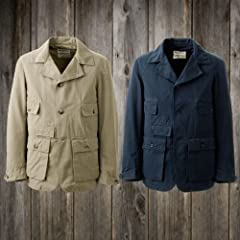 Waste (Twice) Hunter Jacket: Dark Tan, Navy