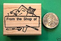 OutletBestSelling「The Shop of」ゴムスタンプ、木製マウント。