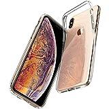 【Spigen】 iPhone XS ケース/iPhone X ケース 5.8インチ TPU 全面クリア 超薄型 超軽量 リキッド・クリスタル 057CS22118 (クリスタル・クリア)