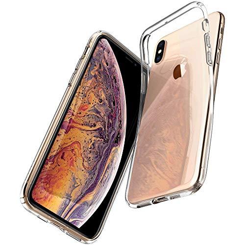 【Spigen】 スマホケース iPhone XS ケース/iPhone X ケース 5.8インチ TPU 全面クリア 超薄型 超軽量 リキ...
