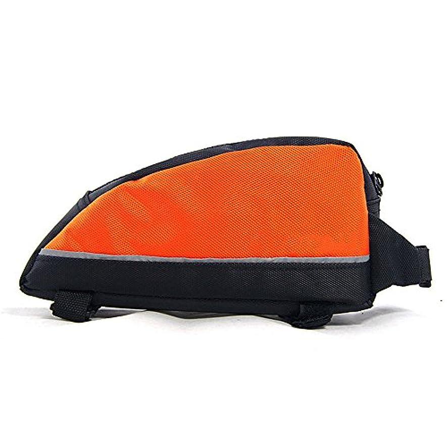葡萄ポーン冷凍庫自転車バッグ テールリアポーチバッグ自転車バッグ自転車サドルバッグトライアングル防雨MTBロードバイクアクセサリーシートポストバッグ れ付き マウンテン/ロード/MTBバイク (色 : オレンジ)