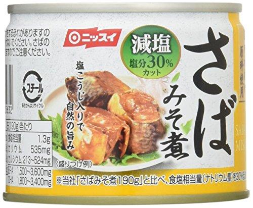 ニッスイ スルッとふた さばみそ煮 減塩 190g×6個