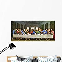 """Last Supper Marcus Jules壁壁画by Wallmonkeys Peel and Stickグラフィックwm173856 48""""W x 23""""H - Extra Large ARL-16753-48"""