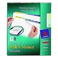 Avery Index Maker Dividers 8-Tab Multi-Color 5 Sets (11991) [並行輸入品]