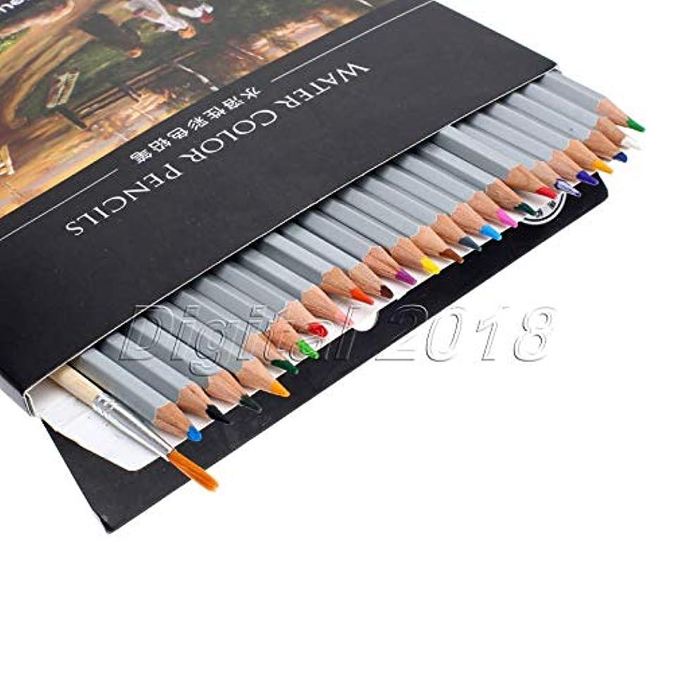 話す没頭するファッションFidgetGear 24/36/48水溶性の水色鉛筆画家のスケッチサプライ 24色
