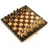 【ポーランド製】木製チェスセット COMPACT 26cm