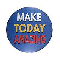 DL-make today amazing blue classic metal sign mancave decorations home wall sticker