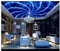 3d壁紙壁画天井シルク布抽象ブルーカラフルスパイラルRadiantファッション天井ゼニスMural ayzr SFGSG465762