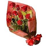 【配達日時指定便】ニューヨークスタイルのフラワーギフト♪スタイリッシュで大人気♪シンフォニー(赤バラ花束)10 Stem of Red Roses bouqet valentine (日時指定便)