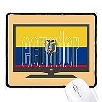 エクアドル国の旗の名 マウスパッド・ノンスリップゴムパッドのゲーム事務所