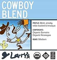 Larry's Coffee Organic Fair Trade Whole Bean, Cowboy Blend, 5-Pound Bag