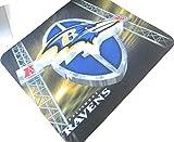 "Baltimore Ravens、NFL、コンピュータマウスパッドサイズファブリック10"" x 9インチ、電子機器Assessors"
