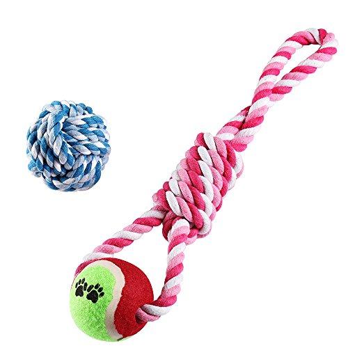 犬用 ロープ 2点セット 犬噛むおもちゃ ストレス解消 テニ...
