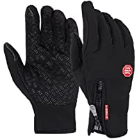 Phoenix Men's Winter Windproof Thermal Leisure Camping Fleece Touch Screen Glove
