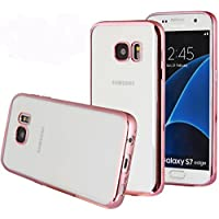 Galaxy S7 Case, Mopo Samsung Galaxy S7 Case Silcone TPU Gel Rubber Transparent Back Plating Case Cover for Samsung Galaxy S7 (Rose gold) [並行輸入品]