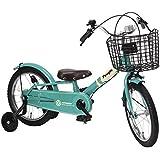 People(ピープル) ピッタンコ自転車 Mark2 16インチ [サイレント補助輪] エメラルド YGA274