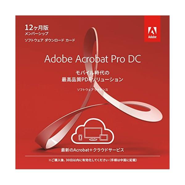 Adobe Acrobat Pro DC 12か...の商品画像