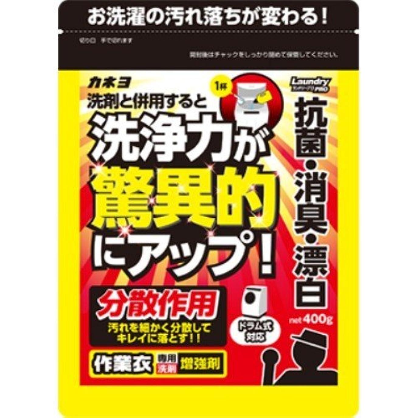 特許可決バーベキューカネヨ石鹸 作業衣専用洗剤 増強剤 粉末 400g