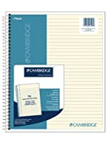 (1 Pack) - Cambridge Ivory Wirebound Notebook, 70 sheets (06196)