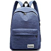 Bozdqun 16 inch RoyalBlue Boys Teens University College School Backpack Men Daypack