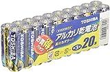 東芝 アルカリ乾電池 単3形1パック20本入  LR6L 20MP
